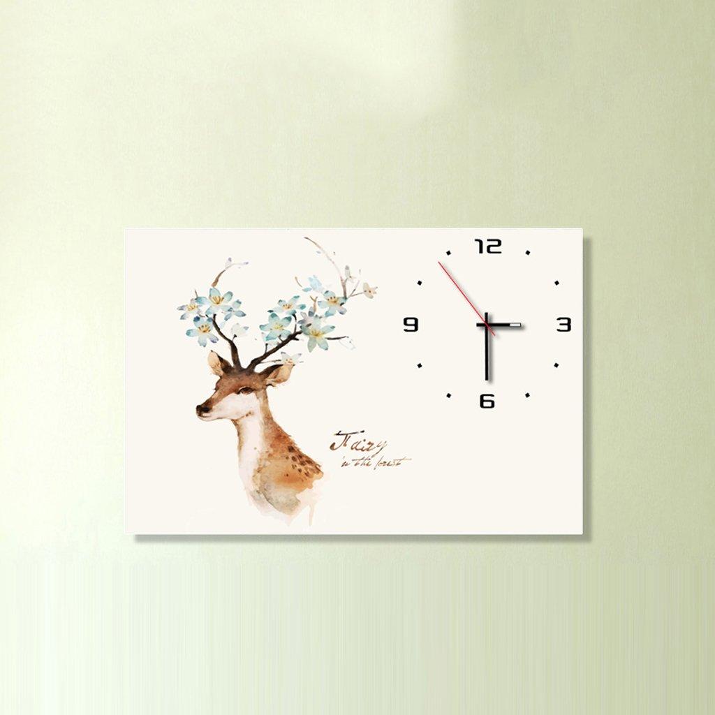 3Dアートサイレント防水絵画壁時計装飾的な背景クリエイティブアートマイクロフレームクリスタルクロックトリプルハンギング絵画の水平バージョン居間 (サイズ さいず : 30*40cm) B07D8SK9N230*40cm