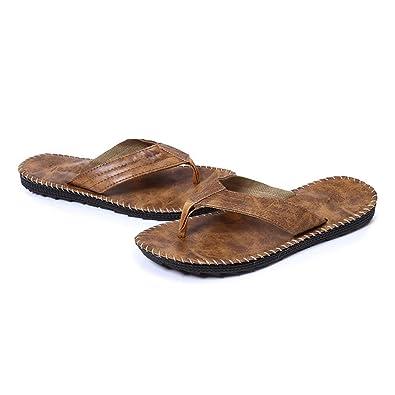 Tongs en PU Plage Homme Été Sandales Ourlet Mules à Imprimé Slippers Flip- Flops  Amazon.fr  Chaussures et Sacs 7bd122ac1ffa