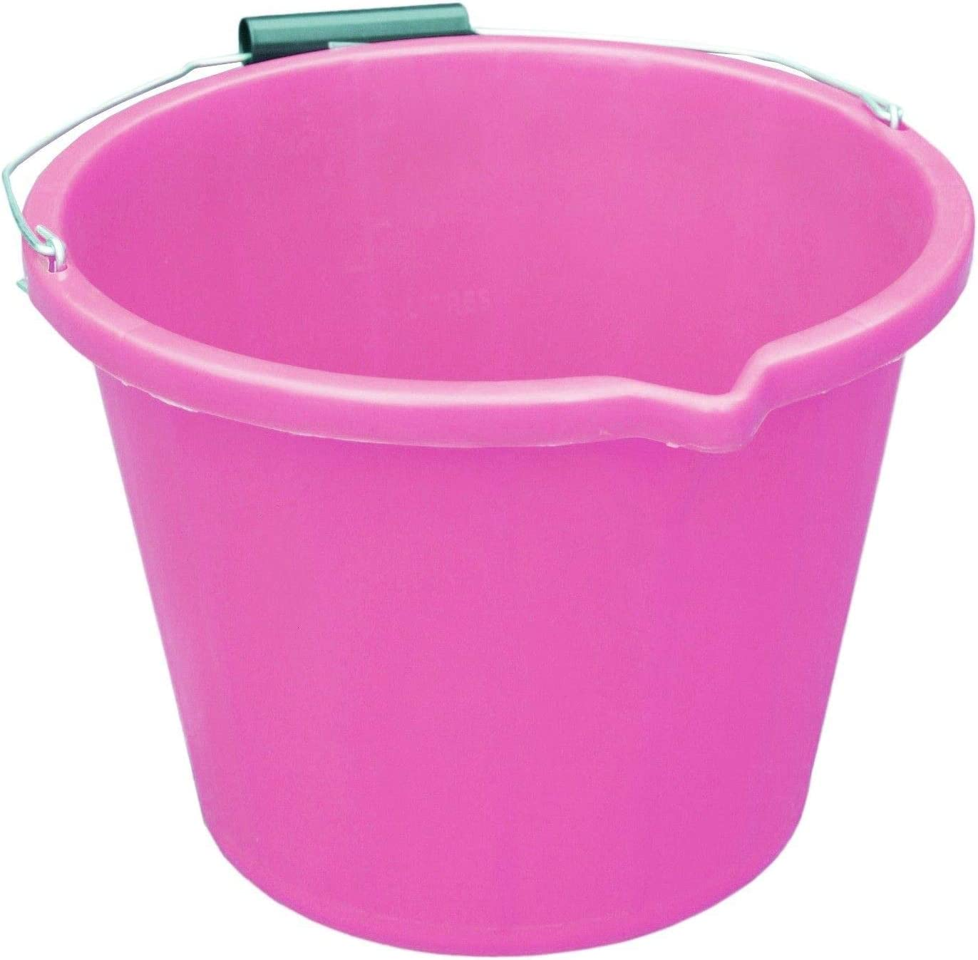 Purple 2 x 15 Litre 3 Gallon Coloured Plastic Buckets Carry Handle Storage Containers Tubs