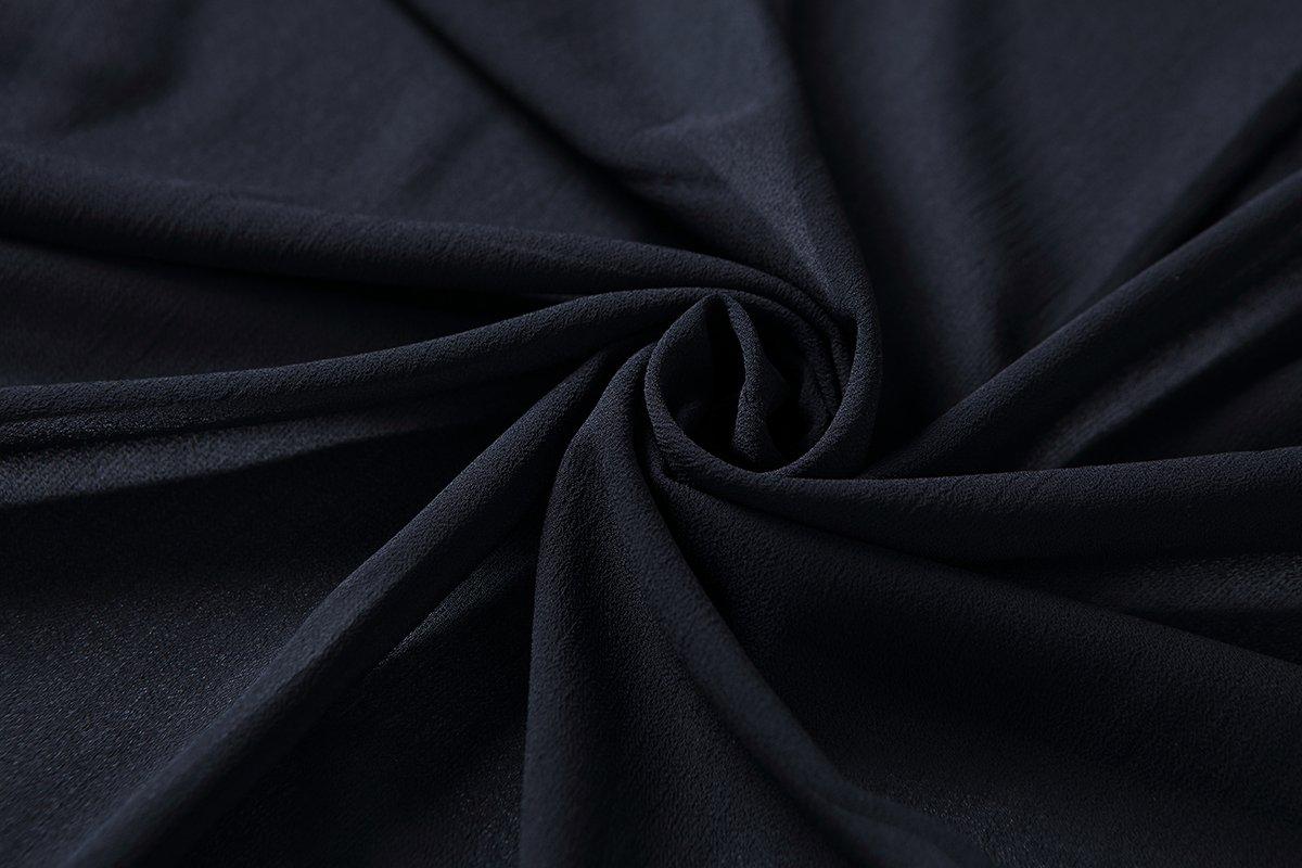 OLRAIN Women's Floral Print Sheer Chiffon Loose Kimono Cardigan Capes (X-Large, Black-1) by OLRAIN (Image #6)