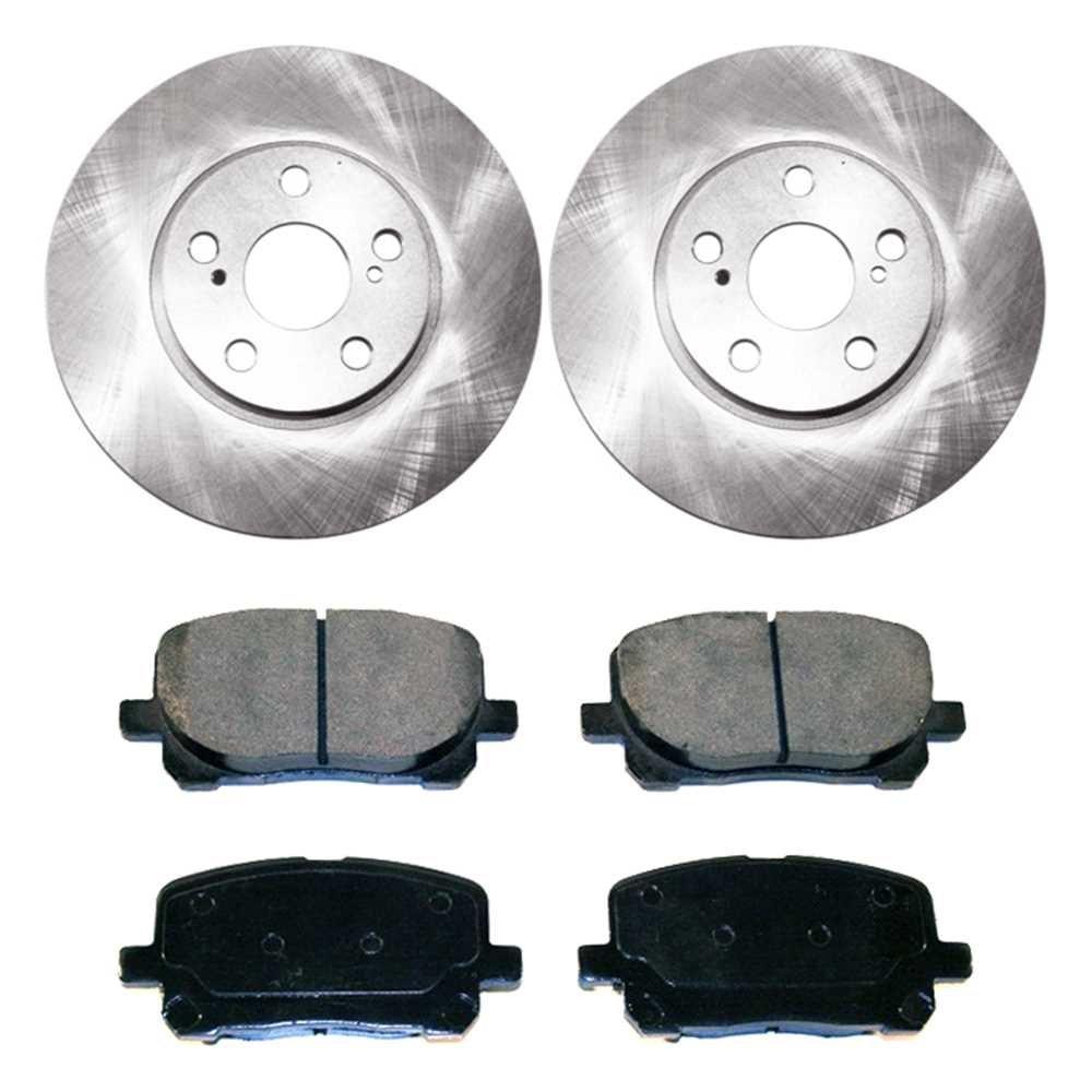 Prime Choice Auto Parts RSCD41272-41272-923-2-4 Set of 2 Premium Rotors /& 4 Ceramic Pads