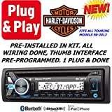 Plug -And -Play Harley Touring 1998-2013 Sony Marine Radio Stereo Pre Installed and Programmed