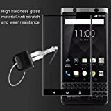 Brain Freezer J Full Screen Coverage 3D Curved Edge Tempered Glass for BlackBerry KeyOne Black