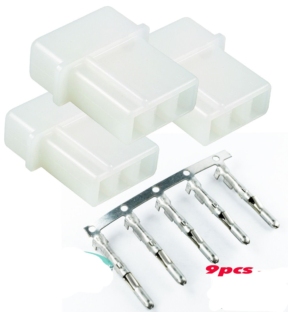 Amazon.com: Strobe 3 Pin Connector AMP Power Supply Bulb Male and Pin 3 Set  of 3 Pins (18-24 AWG Wires) for Whelen: Industrial & ScientificAmazon.com