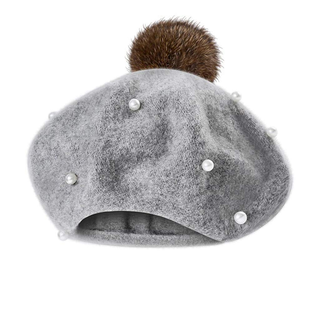Infant Toddler Hair Ball Hat Beret Cap,Charberry Baby Kids Boys Girls Pearly Ball Beanie Winter Warm Hat
