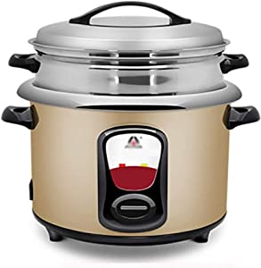 XH&XH Rice Cooker Rice Cooker with Steamer Small 2.5L Stainless Steel Cooker and Warmer for Cooking Rice Soup Porridge Multifunction Smart Kitchen Appliance Rice Cooker Suitable for 1-3 People