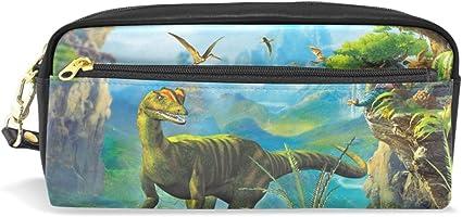 isaoa dinosaurio impreso estuche gran capacidad Durable bolsa de maquillaje lápiz bolsa para niños niñas estudiantes de la escuela, el regalo perfecto en todas las ocasiones: Amazon.es: Oficina y papelería