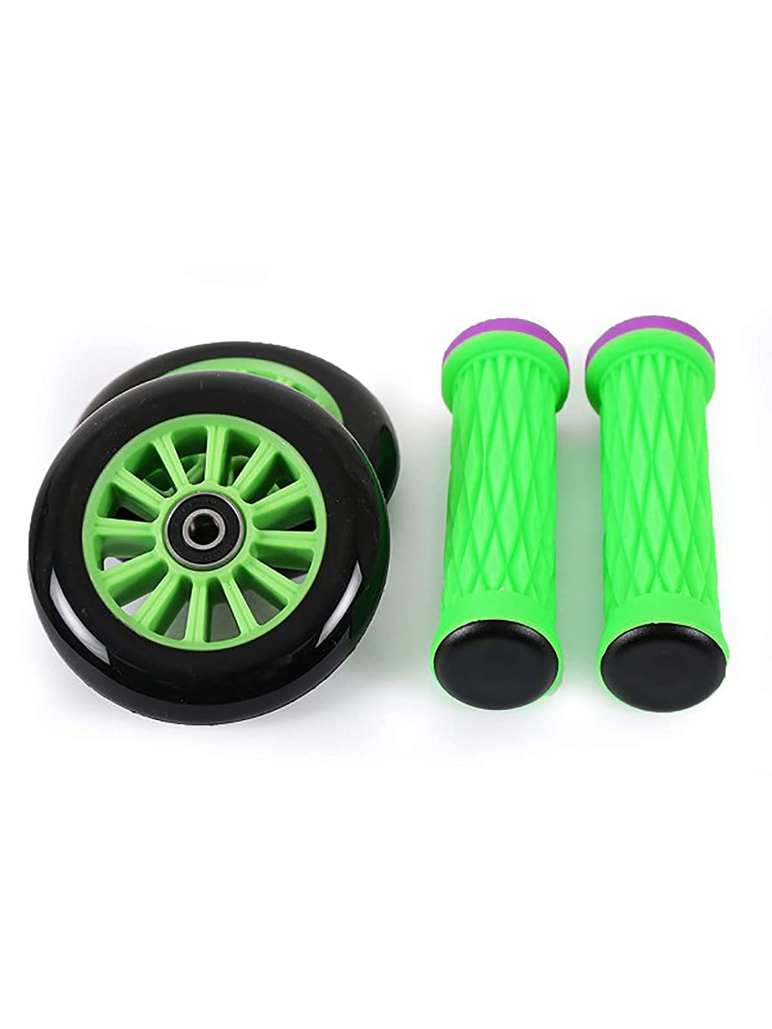 Choice of Colours Two Bare Feet MD STUNT SCOOTER Wheels /& Handlebar Grips Set //// Ultra Series TBF Skate