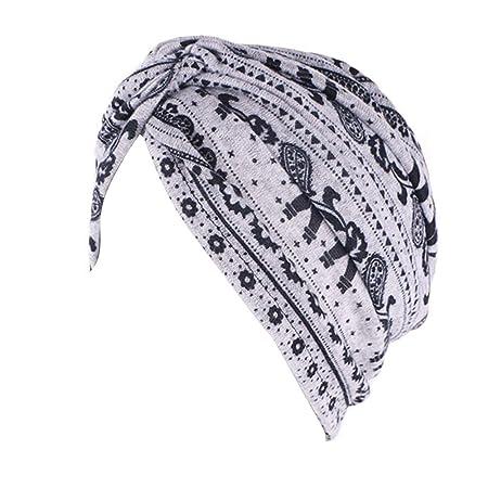 TININNA Gorros Oncologicos para Mujer,Turbante Hijab Sombrero ...
