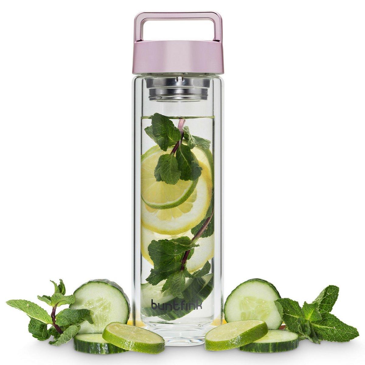 Amazon.de: 2goBottle Teeflasche aus Glas mit Sieb, Teebereiter to go ...