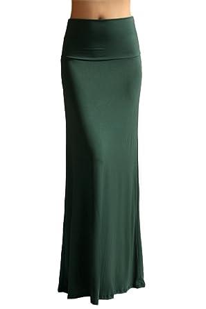 8523fcd458 TrendzArt Women's Rayon Span Maxi Skirt - Made in USA (X-Large, Dark ...