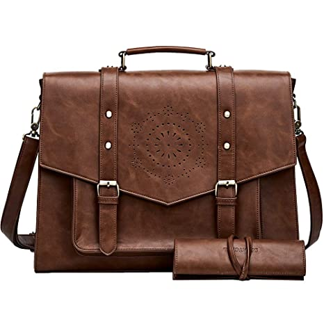 06d392aff0fa Amazon.com  SOSATCHEL Laptop Bag Briefcase Messenger Satchel Shoulder  Crossbody Bag for Women Fit 15.6 Inch Notebook