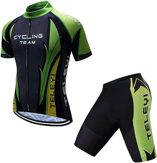 YDJGY Hombres Ciclismo Jerseys Conjuntos Manga Corta Jersey Pro ...
