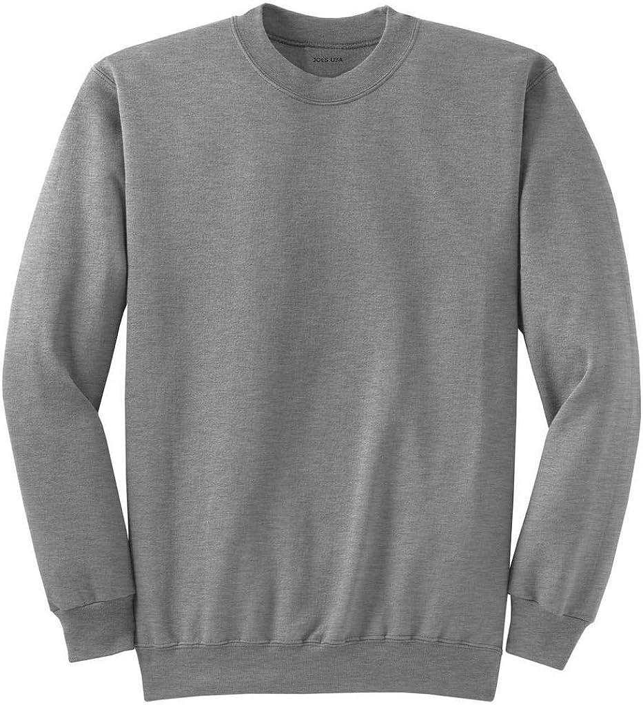 Joe's USA - Men's Big and Tall Ultimate Crewneck Sweatshirts in 20 Colors