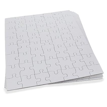 amazon com set of six white blank 10 x 8 create a jigsaw puzzle