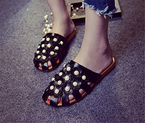 Woman Slippers Flats Slippers Slides Half Shoes Black 1 edv0d2v266 Sandals Mules Summer Women O0tvqywY