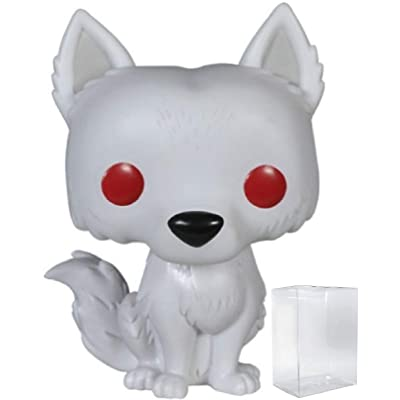 Game of Thrones: Ghost - Dire Wolf Funko Pop! Vinyl Figure (Includes Compatible Pop Box Protector Case): Toys & Games [5Bkhe1204357]