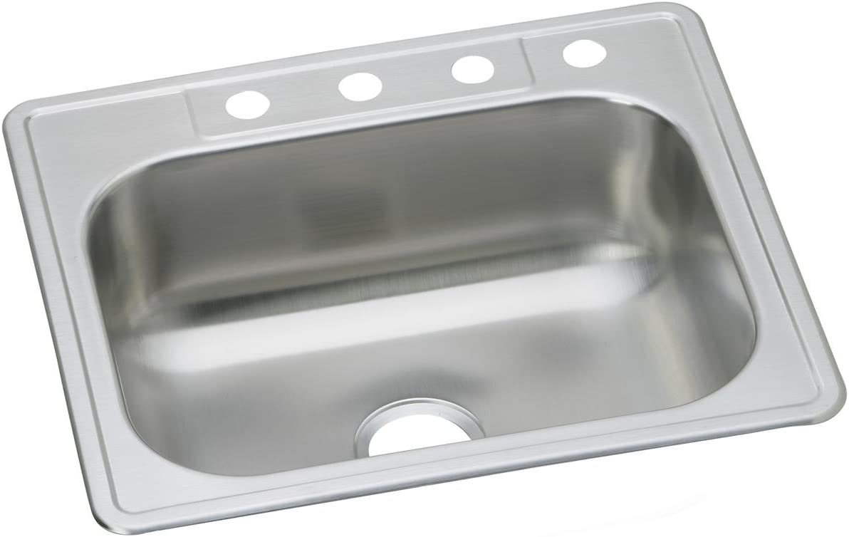 Dayton DSE125222 Single Bowl Top Mount Stainless Steel Sink