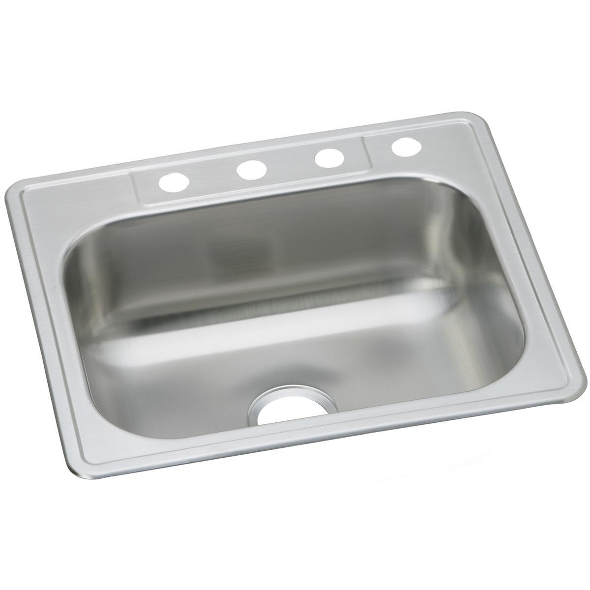 Dayton DSE125224 Single Bowl Top Mount Stainless Steel Sink