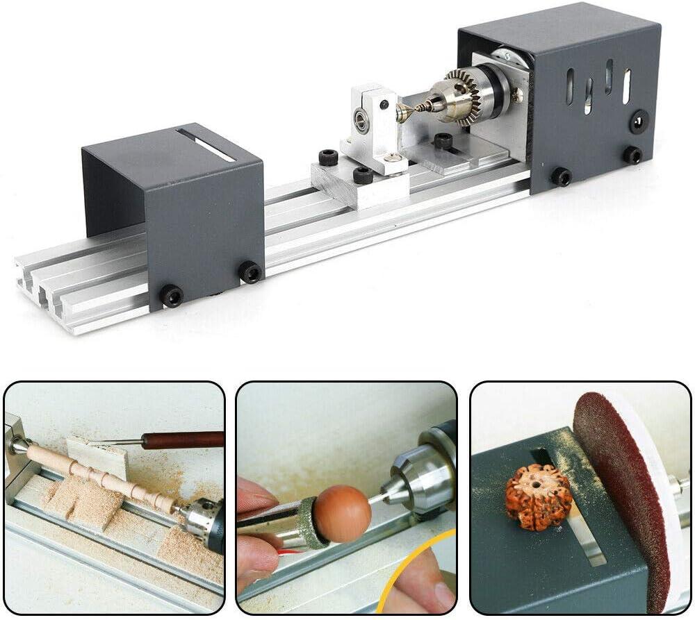 Mini Lathe Beads Polisher Machine for Woodworking Poshing Beads Machine Craft DIY Rotary Tools 24V 80W