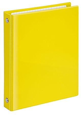 Veloflex 1164310 Velocolor - Archivador de anilla, DIN A6, 4 anillas, color amarillo: Amazon.es: Oficina y papelería