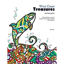 West Coast Treasures - Spiral bound Coloring book for adults