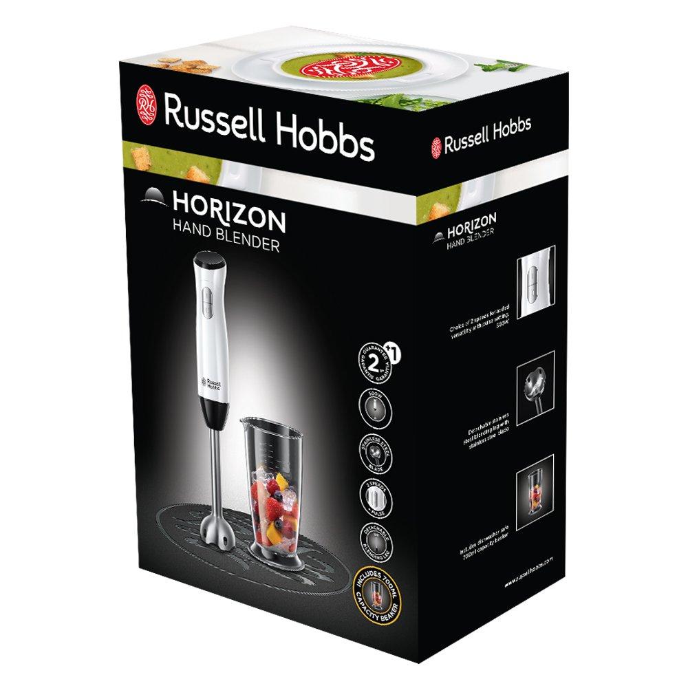 Russell Hobbs 24691-56 Horizon - Batidora de Mano, Dos Cuchilla de Acero Inoxidable, 500 W, de Plástico, 2 Velocidades, Blanco, sin BPA: Amazon.es: Hogar