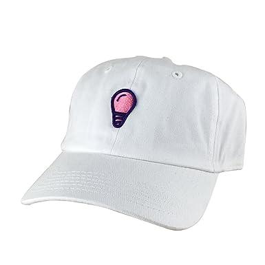Image Unavailable. Image not available for. Color  3D Light Bulb  Unstructured Strapback Baseball Cap Dad Hat - White Pink Purple de7e94666b73