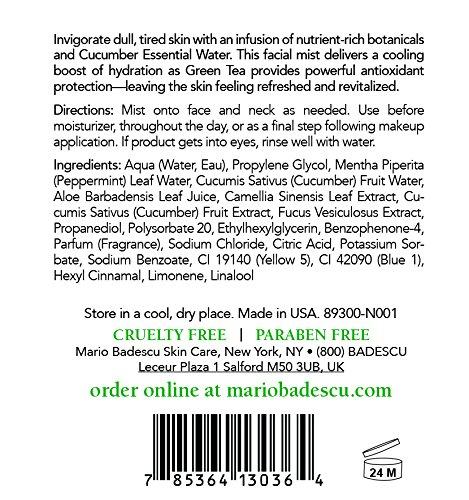 Mario Badescu Facial Spray with Rosewater & Facial Spray with Green Tea Duo, 8 oz.