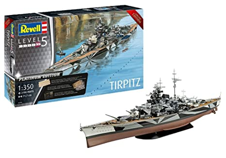 Amazon.com: Revell 05160 Tripitz TIRPITZ (Platinum Edition ...