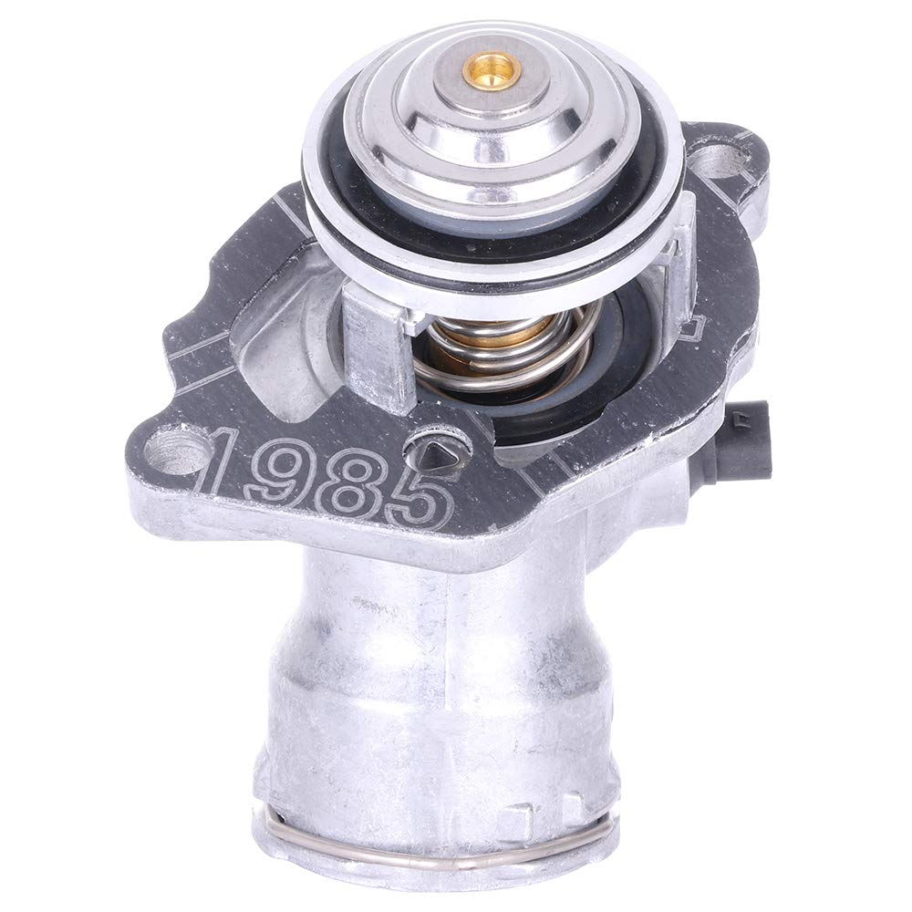ECCPP 2722000015 2722000115 Engine Coolant Thermostat and Housing Assembly Radiator Coolant/Thermostat Housing Equipment fit for 2007-2011 Mercedes-Benz E350//R350 2006-2011 Mercedes-Benz C350//ML350