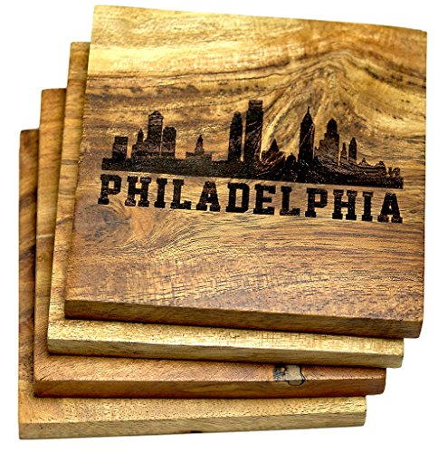 Philadelphia Pennsylvania Skyline Drink Coasters (Multiple for sale  Delivered anywhere in USA
