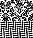 Black & White Tissue Paper for Gift Wrapping with Design (Damask/Houndstooth) , 24 Large Sheets (20x30)