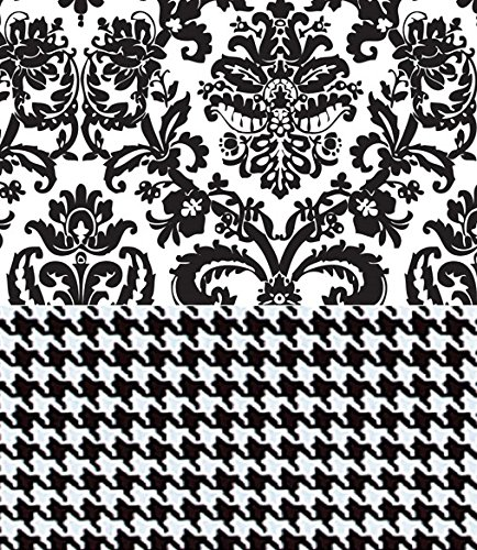Black & White Tissue Paper for Gift Wrapping with Design (Damask/Houndstooth) , 24 Large Sheets ()