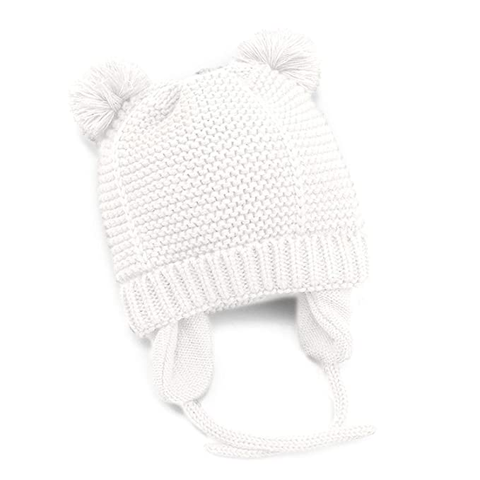 e78d75d0 Amazon.com: FindUWill Baby Cute Bear Warm Fall Winter Hat, Infant Toddler  Girls Boys with Earflap Fleece Lined Knit Beanie Hat: Clothing