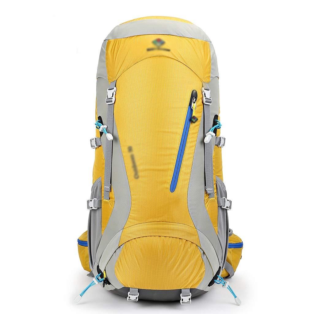 MXRa Wanderrucksäcke Reiserucksack groß Wandern Camping Gepäcktasche für Outdoor-Reisen Klettern Camping Bergsteigen (erhältlich in rot oder gelb) (Farbe   Gelb)