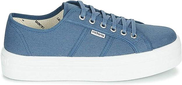 VICTORIA Barcelona Lona Zapatillas Moda Femmes Azul Zapatillas Bajas: Amazon.es: Zapatos y complementos