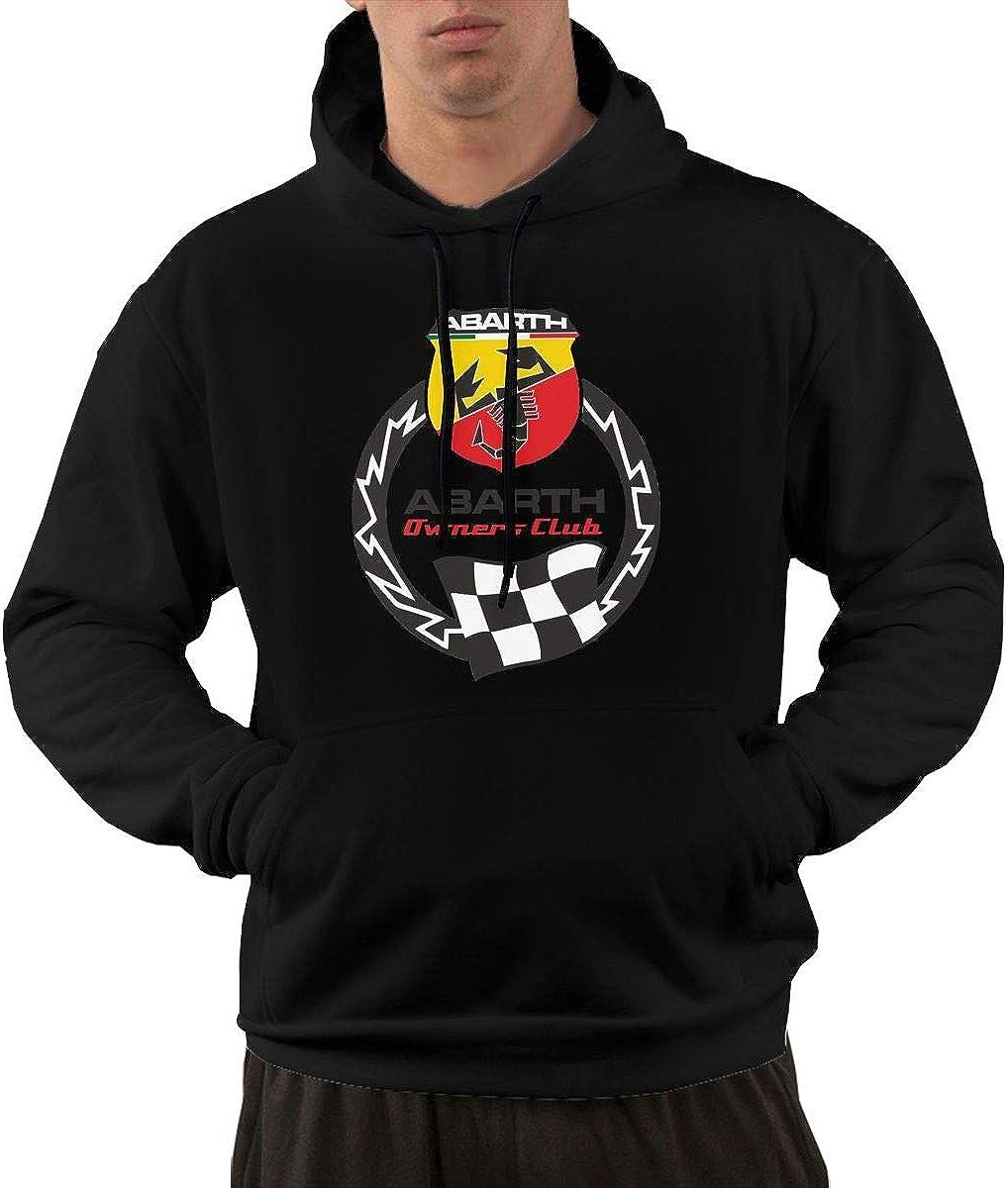 Hengteng Men Casual Abarth Club Logo Hoodies Black