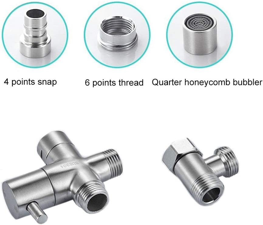 LXJ Water Divider Color : B Shower Sprinkler Mixing Valve Water Divider Faucet Water Divider one in Two Out Stainless Steel Water tap Interface