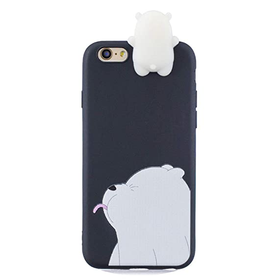 Phone Bags & Cases For Coque Iphone 6s Case Cover For Iphone 6 Case 3d Cartoon Panda Unicorn For Case Iphone 6 6s Back Cover 6s 6 Plus Capinha Etui