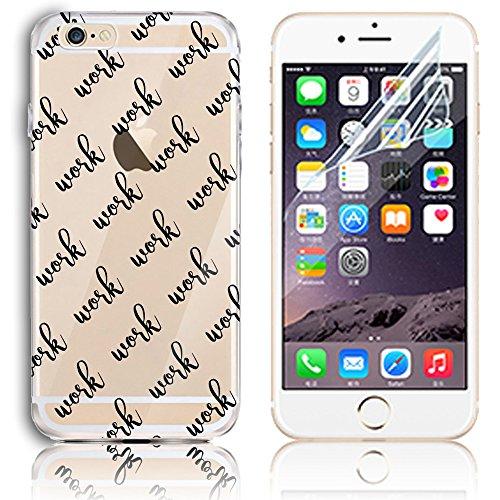 Transparente TPU Funda para iPhone 6 4.7 Silicona Gel Sunroyal® Resistente a los Arañazos en su Parte Trasera Flexible Bumper Case Cover [Anti-Gota] [Choque Absorción] Ultra Fina Protectora Alta Cali A-34