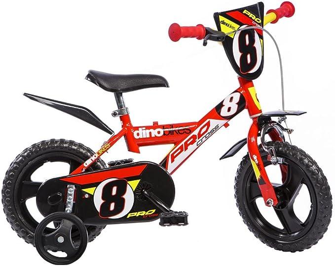 Partner AUA123GLN - Bicicleta para niño, Rueda 12 in, Color Rojo ...