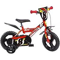 Dino Bikes 123 GLN bicicletta serie 23 con rotelle e freno anteriore per bambini dai 3 ai 5 anni