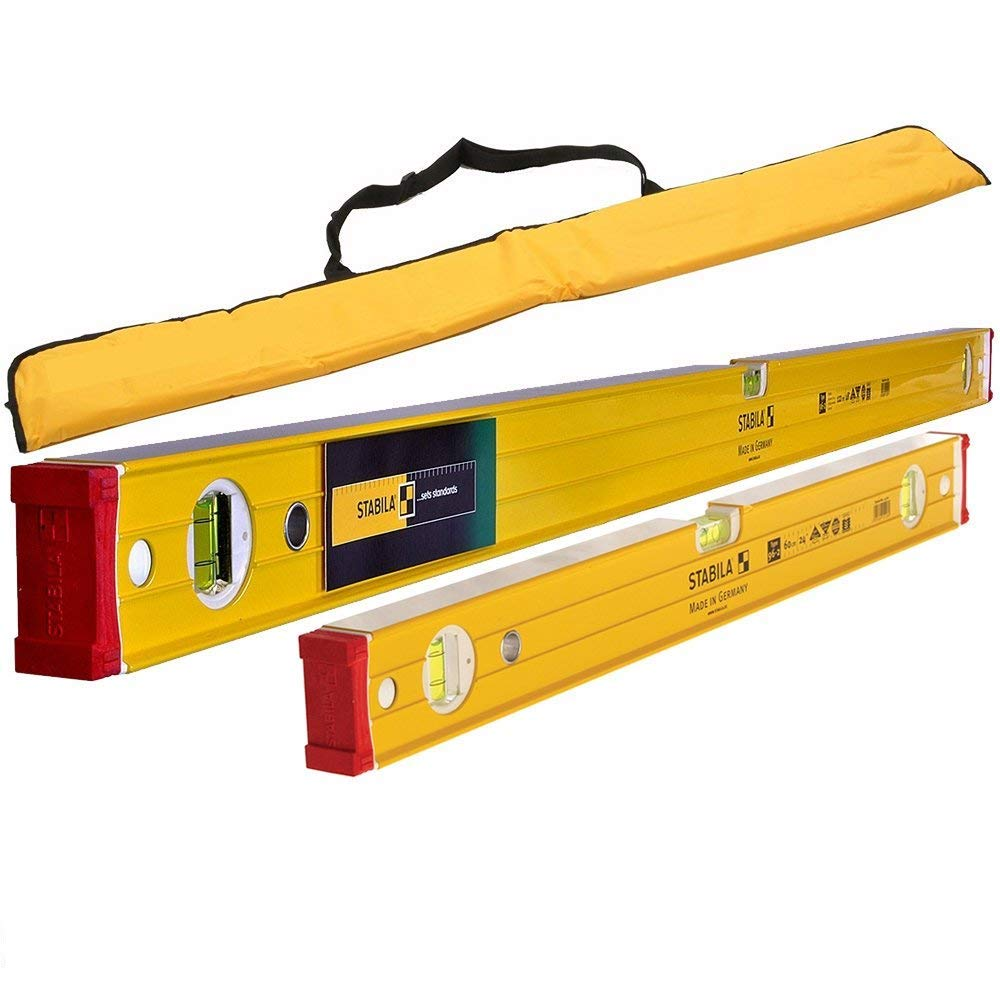 Stabila 96-2 Spirit Level 3 Vial 60cm & 120cm with Padded Bag