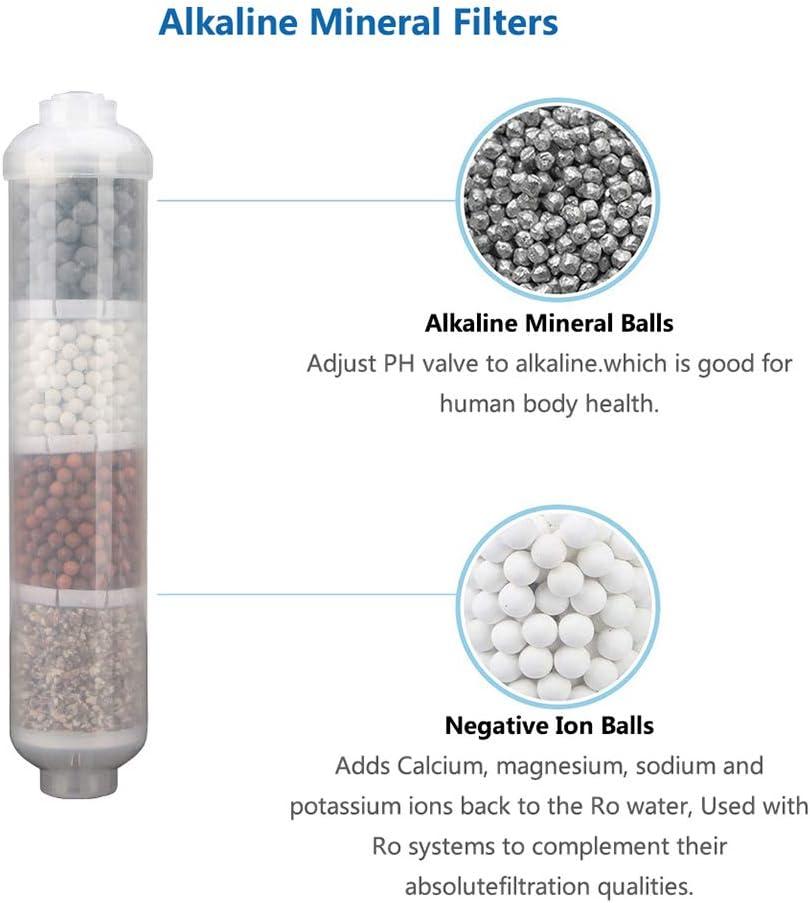LZH FILTER 6 Etapa Reemplazo Mineral Alcalino Adecuado Ninguna Est/ándar Osmosis Inversa Sistemas Filtro Alcalino Filtro De Remineralizaci/ón