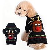 BOBIBI Pet Holiday Cartoon Clown Christmas Dog Sweater Pet Winter Knitwear Warm Clothes