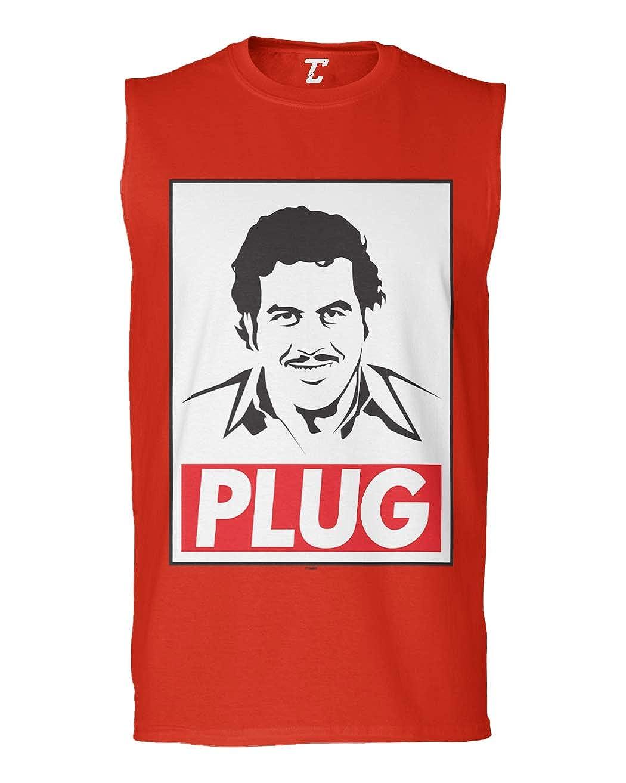 Tcombo Pablo Escobar Plug Funny Drug Lord Mens Sleeveless Shirt