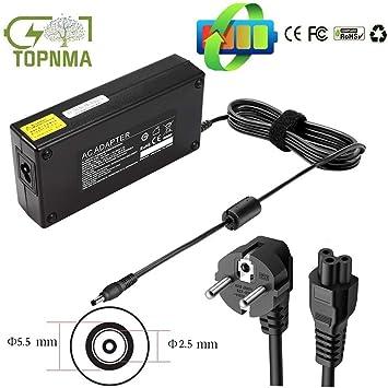 Topnma 90W 19V 4.74A EXA1208EH AD887020 PA-1650-78 EXA1203YH Cargador del Ordenador Portátil para ASUS K53E K53SJ K53SV K55A N17908 V85 19V 4.74A 90W ...