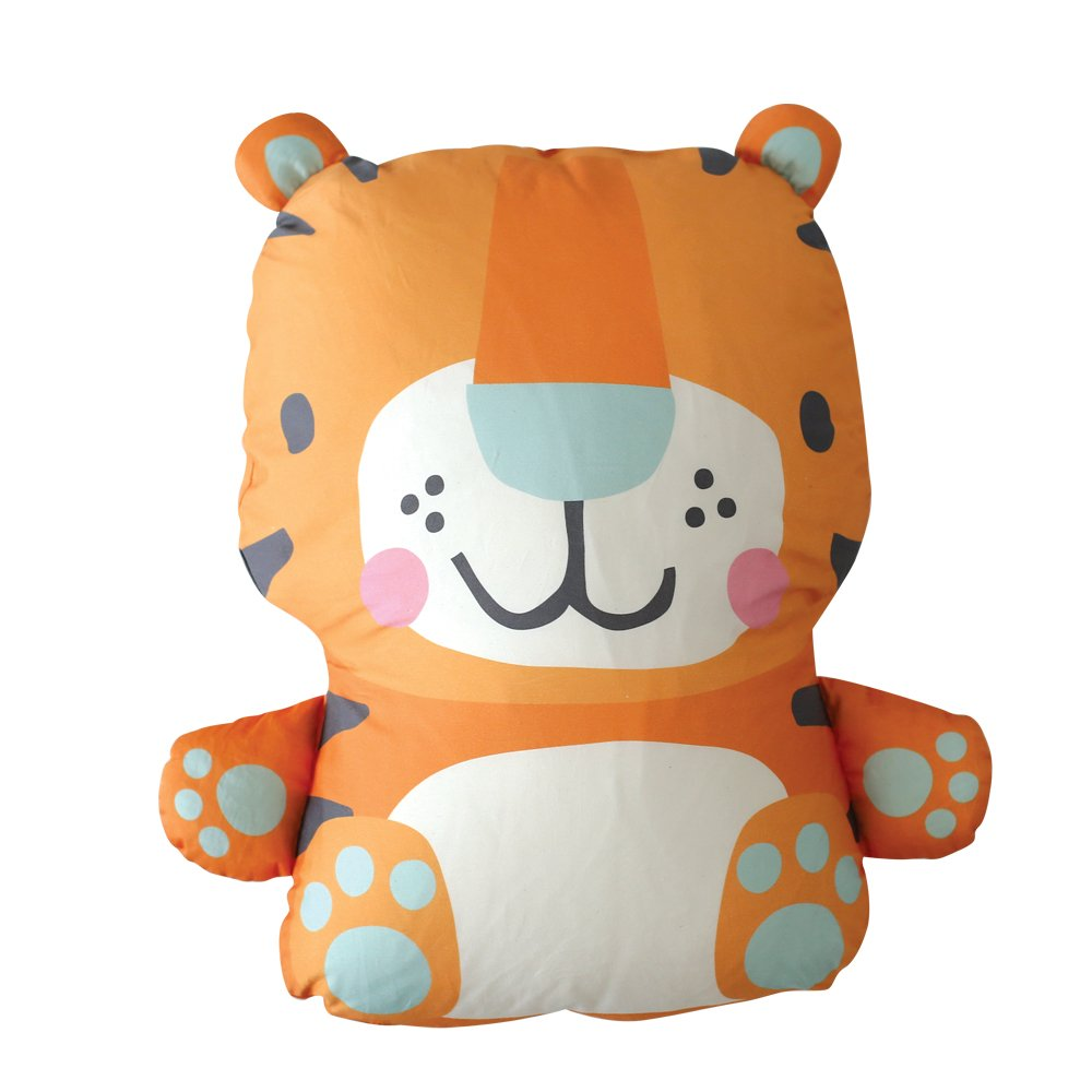 Rucooganic Animal Organic Cotton Baby Doll & Pillow 48cmX63cm Ronnie(Tiger)