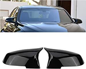 Door Mirror Covers,Glossy Black Mirror Cover Caps Replacement Side Mirror Caps For for BMW BMW F20 F22 F23 F30 F31 F32 F33 F36 F87 M2 X1 E84 (Gloss Black)